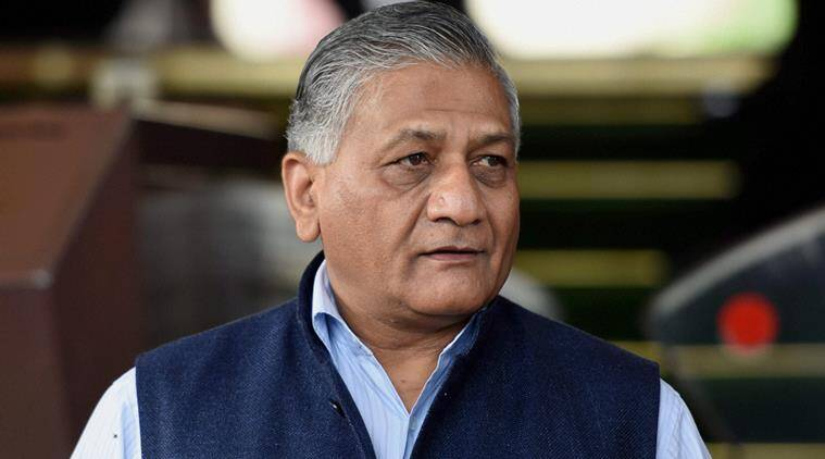 New Delhi: MoS for External Affairs V K Singh at Parliament in New Delhi on Thursday during the winter session. PTI Photo by Subhav Shukla (PTI12_3_2015_000228b)