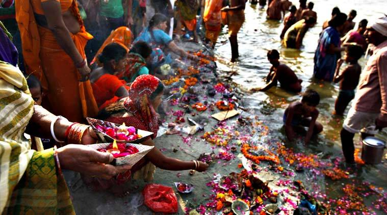 File photo of Hindu devotees performing morning rituals along the banks of the river Ganges on the first day of the nine-day Hindu festival of Navratri in Allahabad. (Source: AP)