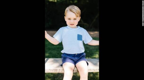 Prince William and his wife Kate releases pictures for Prince George's third birthday