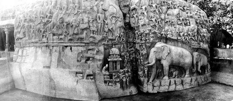 4. Descent of the Ganges and Bass Relief_759_swasti