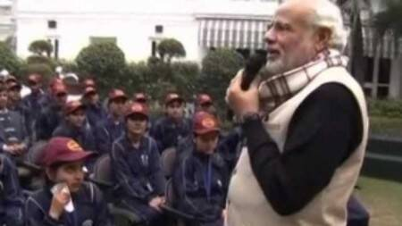 Jammu and Kashmir children interact with PM Modi