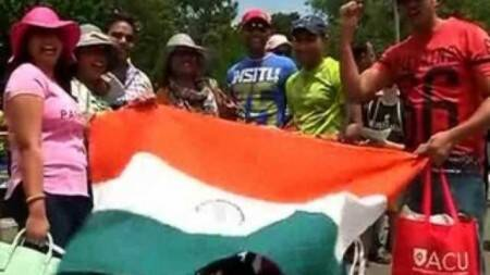 India vs Aus 4th ODI today, Indian supporters cheer inCanberra