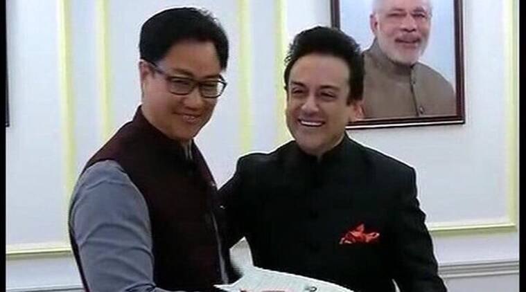 Adnan Sami, Indian Citizenship, Adnan Sami Indian citizenship, Pakistani Singer Adnan Sami, Adnan Sami Indian citizenship certificate, Adnan Sami news, Pakistani Singer Adnan Sami, Rajnath Singh, Narendra Modi, Kiren Rijiju, Entertainment news