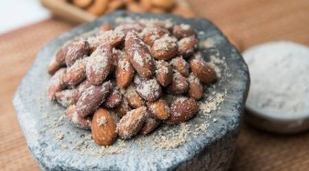 Ready in 12 mins: Anardana Churan Roasted Almonds recipe