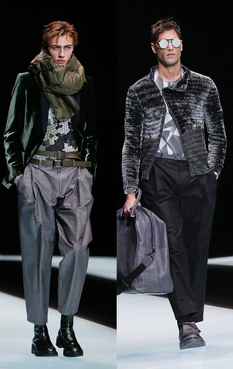 Models wear creations for Emporio Armani men's Fall-Winter 2016-2017 collection, part of the Milan Fashion Week, unveiled in Milan, Italy. (Photo: AP)