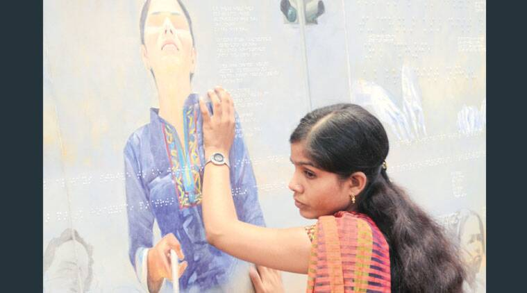 Painting exhibition, visually impared Painting exhibition, art, art exhibition, pune news