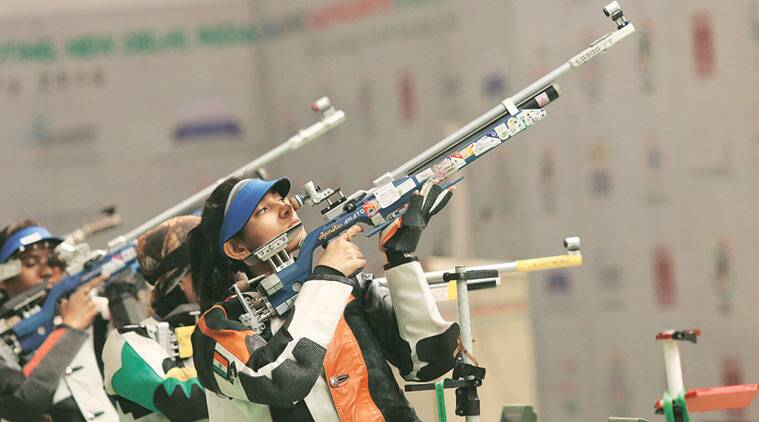 ayonika paul, ayonika paul shooter, india shooters, india female shooters, india sports, india news, Pooja Ghatkar, Pooja Ghatkar shooter, sports news