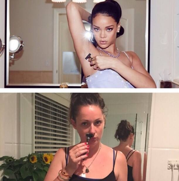 Australian comedian recreates celebrity Instagram photos in real-life surroundings; the result is hilarious