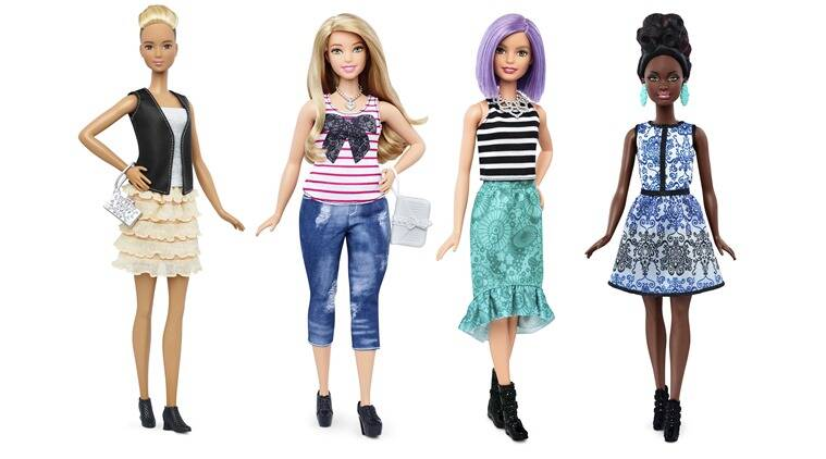 New Barbie doll body shapes of tall (L), curvy (2nd L) and petite (R) are seen next to the traditional Barbie (2nd R) in this combination of photos released by Mattel. (Photo: Reuters)