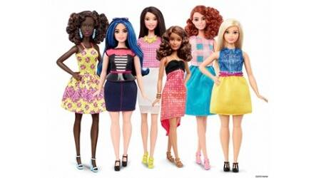 UNDATED : This photo provided by Mattel shows a group of new Barbie dolls introduced in January 2016. Mattel, the maker of the famous plastic doll, said it will start selling Barbie's in three new body types: tall, curvy and petite. She'll also come in seven skin tones, 22 eye colors and 24 hairstyles. AP/PTI(AP1_29_2016_000015A)