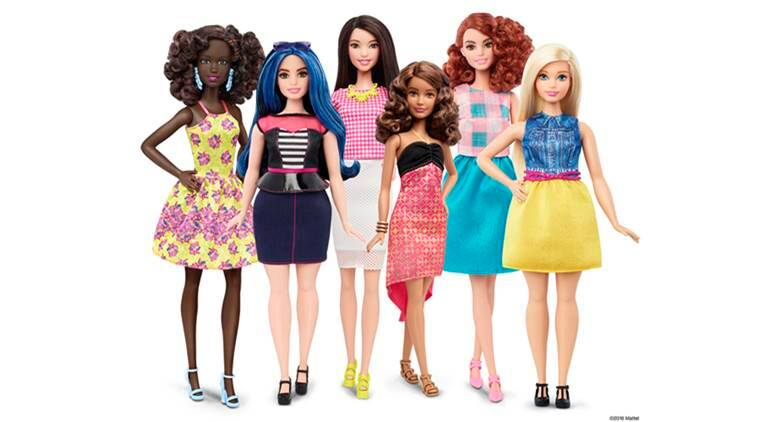 This photo provided by Mattel shows a group of new Barbie dolls introduced in January 2016. Mattel, the maker of the famous plastic doll, said it will start selling Barbie's in three new body types: tall, curvy and petite. She'll also come in seven skin tones, 22 eye colors and 24 hairstyles. (Mattel via AP)