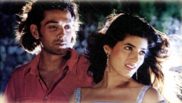 Film stars Bobby Deol and Twinkle Khanna in film BARSAAT. Express archive photo