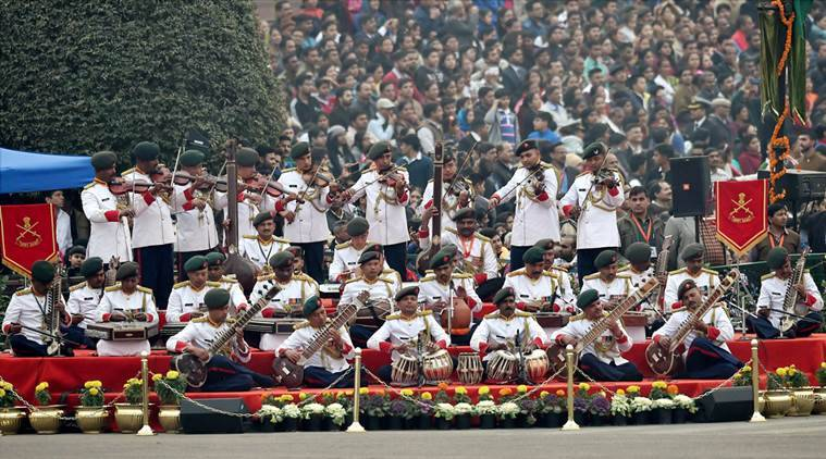 Beating Retreat ceremony 2016, beating retreat ceremony, Republic Day parade, Republic day 2016, Classical music at beating retreat, classical music, rashtrapati bhavan, vijao chowk, AR Rahman, Narendra Modi, Indian Army