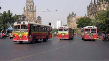 BEST, mumbai bus, BEST bus, BKC bus lane, mumbai traffic, bandra kurla complex, indian express mumbai, mumbai news