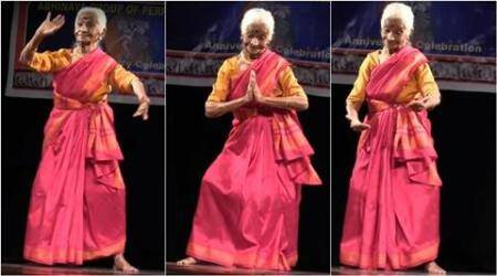Video of 92-yr-old Bhanumathi Rao performing Bharatanatyam goes viral