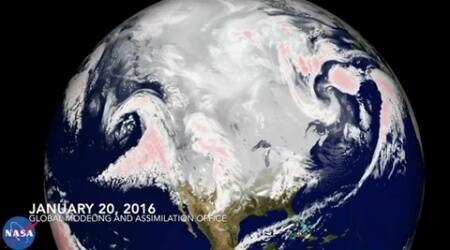 #Blizzard2016: NASA's video tracking the snowstorm in the US goesviral