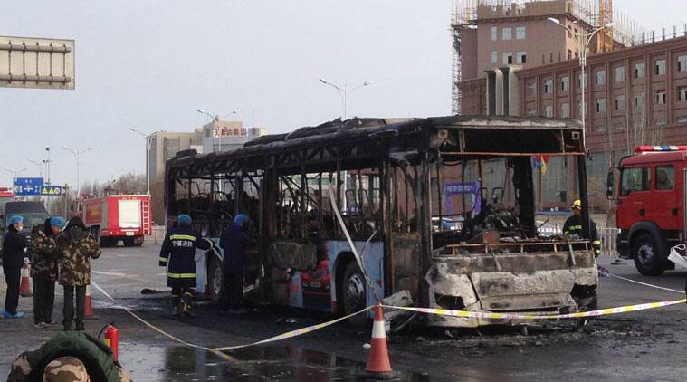 china, china bus accident, china accident, china bus, china bus fire, bus fire china, Yinchuan fire, Ningxia fire, Yinchuan, Ningxia, China news, world news
