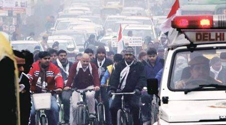 Cars ply on car-free stretch, sparks fly between govt, cops
