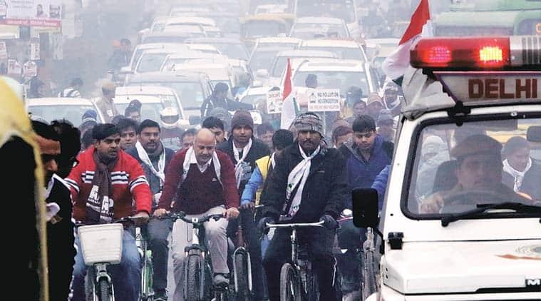 car free day, delhi car free day, 'car-free zone, AAP, Arvind kejriwal, kejriwal govt, delhi news