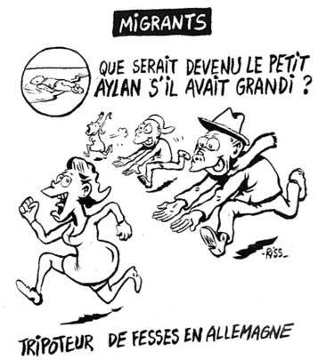 The Charlie Hebdo cartoon on Aylan Kurdi that has sparked the new controversy