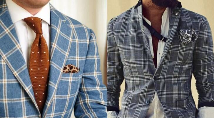 Blue seems to be the strongest colour when we talk of checkered coats and jackets. (Photo: Pinterest)
