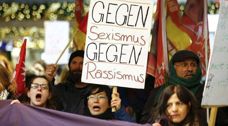Women protest against sexism in Cologne following the rash of sex attacks on New Year's Eve. (Source:Reuters)