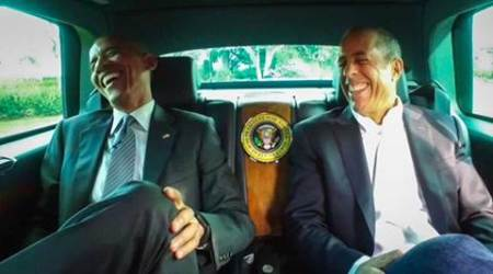 President Barack Obama, Comedian Jerry Seinfeld, Jerry Seinfeld web series, Comedians in Cars Getting Coffee, President Barack Obama news, President Barack Obama stories, entertainment news