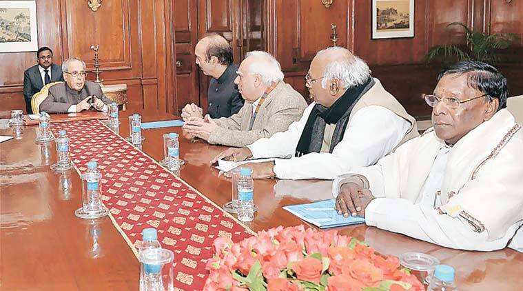 Congress leaders seek the President's intervention. (PTI Photo)