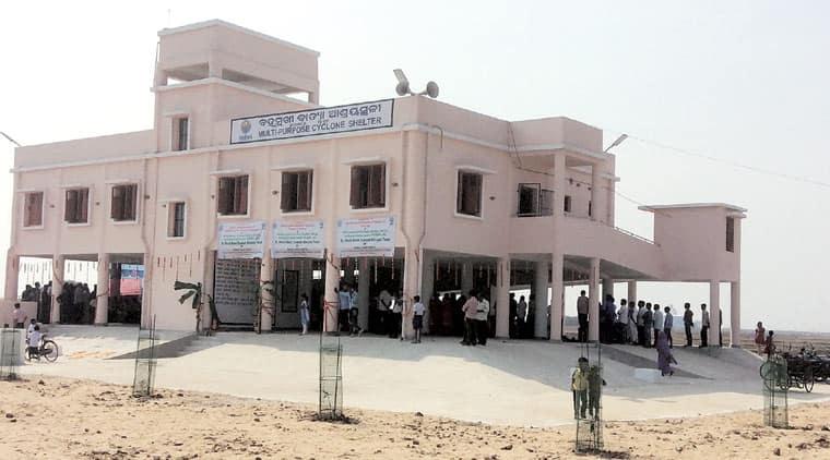 A newly-built multi-purpose cyclone shelter at Bhogarai in Balasore district of Odisha. (Source: Naveed Iqbal)