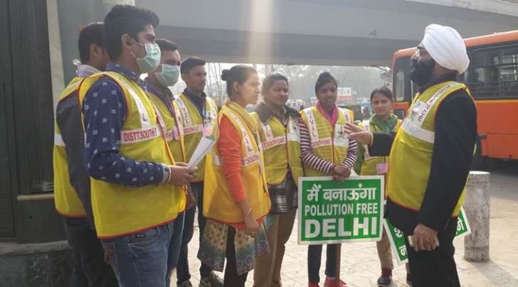 The civil defence volunteers in Delhi