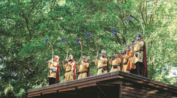A scene from Vikings play