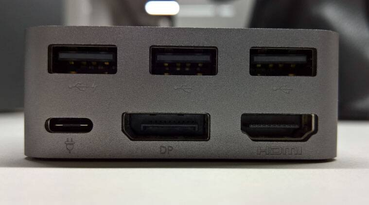 Display Dock completely covers the user needs with three USB ports, a display port and one HDMI port