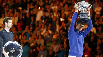 Novak Djokovic, Djokovic, Djokovic news, Australian Open, Australian Open 2016, Aus open 2016, aus open final, murray vs djokovic, djokovic vs murray, murray vs djokovic photos, djokovic vs murray images, djokovic images, australian open images, uastralian open final images, tennis news, tennis images, tennis