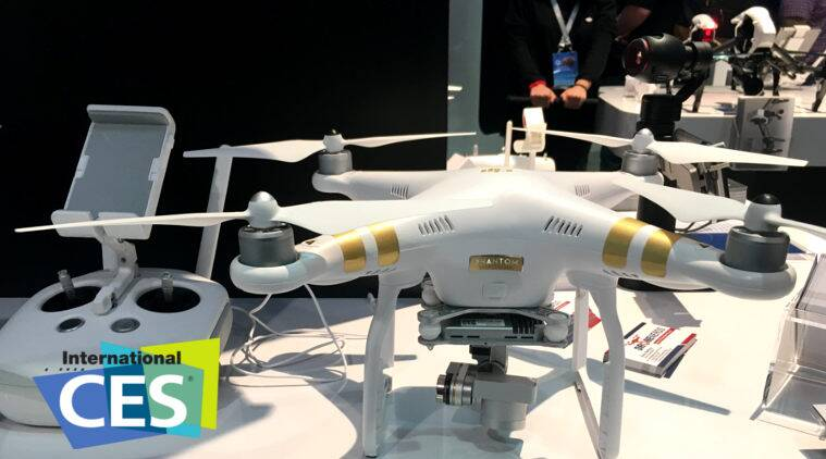 The International Consumer Electronics Show, CES 2016, Drones, Intel, Intel RealSense, 4K camera Drone, DJI, Phantom, Ehang 184, Yuneec Typhoon H, technology news
