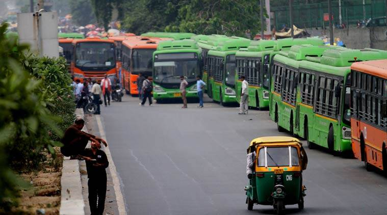 dtc bus, delhi transport corp, indian express