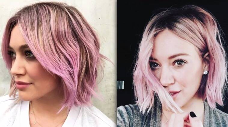 Hilary Duff just proved that pastels are here to stay. (Photo: Rightster)
