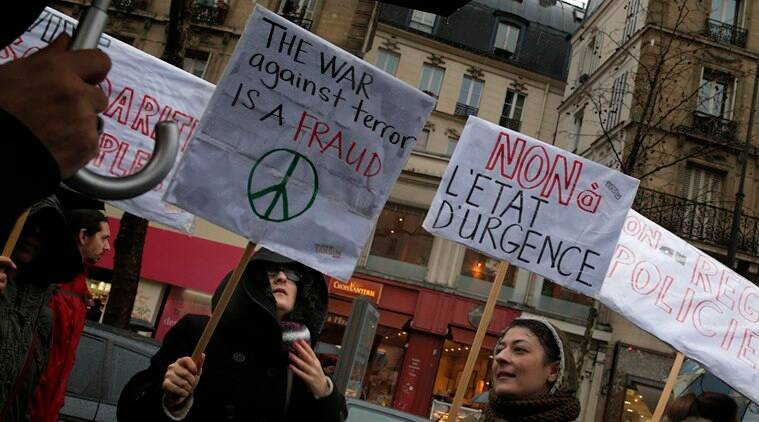 France protest, France state of emergency, Emergency in France, Protests in France, Protests against emergency in France, Paris attacks, Terror attack France, terror attack Paris, France news, world news, Francois Hollande
