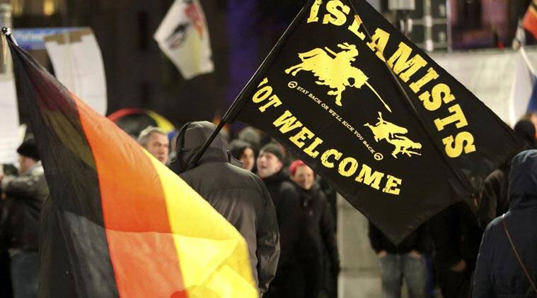 Members of LEGIDA, the Leipzig arm of the anti-Islam movement Patriotic Europeans Against the Islamisation of the West (PEGIDA), take part in a rally in Leipzig, Germany January 11, 2016. (REUTERS)