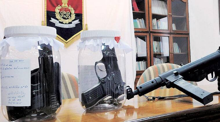 Weapons recovery case, chandigarh Weapons recovery case, BSF, chandigarh news
