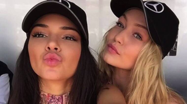 Supermodels Kendall Jenner (L) and Gigi Hadid (R) are in love with the Dad hat.