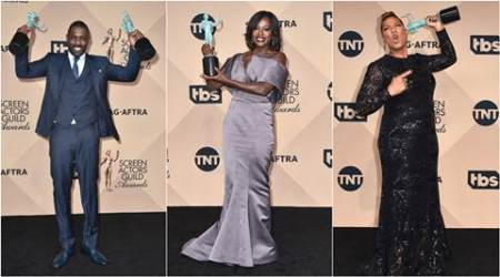 SAG Awards, Oscars controversy, Idris Elba, Viola Davis, Queen Latifah, Uzo Aduba, SAG Awards winner, 22nd Annual Screen awards, Oscars controversy news, SAG Awards news, entertainment news