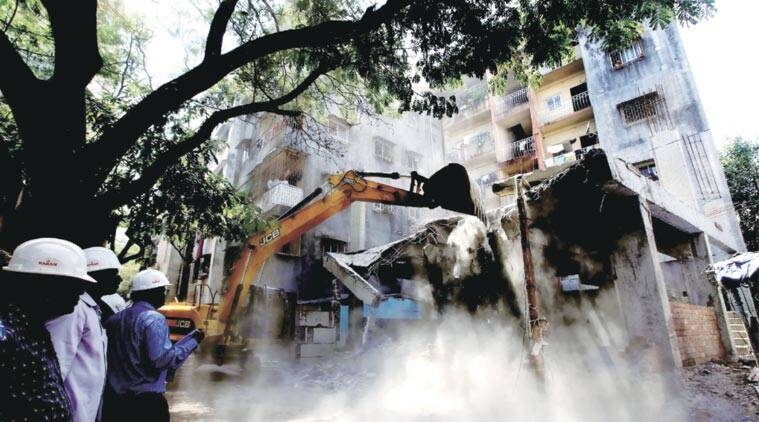 The court is hearing two PILs that have claimed no proper action was taken against unauthorised structures despite complaints. (Express Archive)