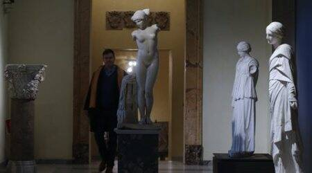 Italy hides ancient nude statues for Iranian president's visit