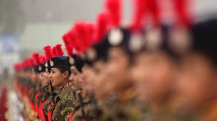 500 lady soldiers of GD cadres during passing out parade at basic training centre of ITBP force at Bhanu camp, Ramgarh, Panchkula on Friday, January 15 2016. Express photo by Jaipal Singh