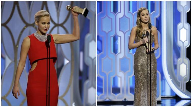 jennifer lawrence, brie larson, golden globes, golden globes awards