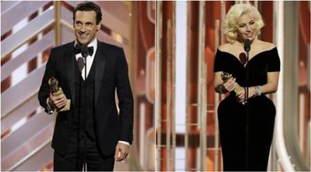 GOLDEN GLOBES, Jon Hamm, Lady Gaga, GOLDEN GLOBES tv, GOLDEN GLOBES winner, Mad Men, entertainment news