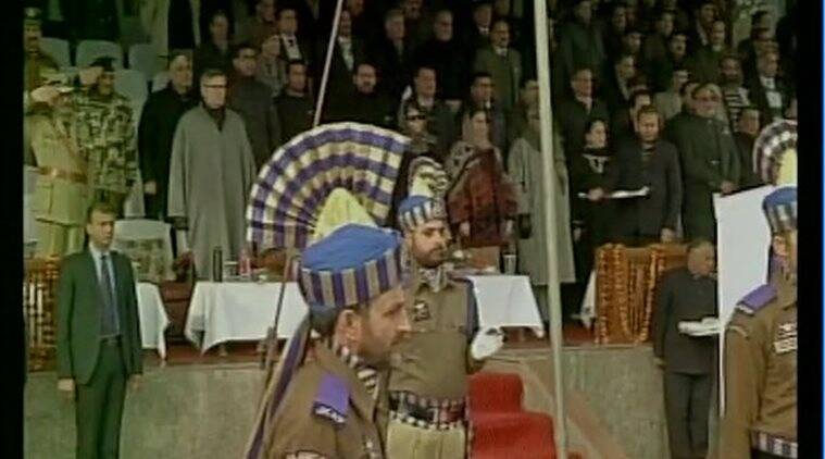 Kashmir Republic day, Republic day in Kashmir, Parade in Kashmir, Parade in Srinagar, Republic day celebration in J&K, RDay celebration in Kashmir