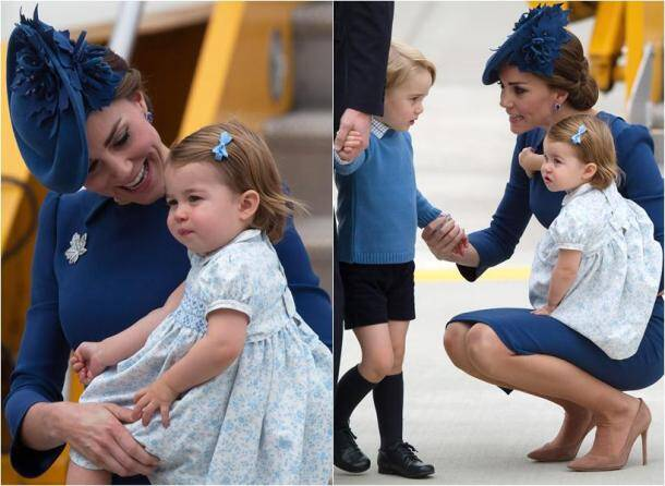 These pictures of Princess Charlotte, Prince George waving to Canadian public are melting hearts online