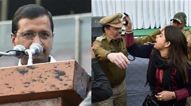 ink attack, kejriwal ink atack