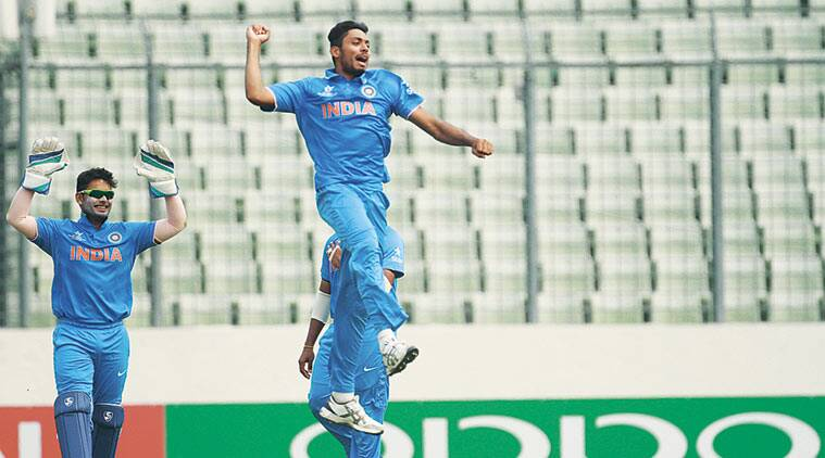 Pacer Avesh Khan took four wickets in India's win over New Zealand in the U-19 World Cup on Saturday. The Boys in Blue were joined by South Asian neighbours Pakistan, Sri Lanka and Nepal in the Super League stage of the event. ICC